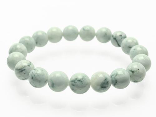 糸魚川翡翠(いといがわひすい)ブレスレット 白・緑