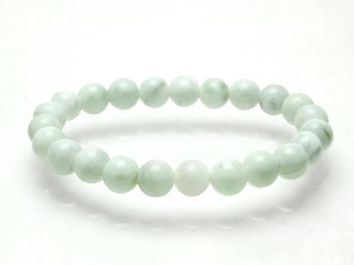 糸魚川翡翠(いといがわひすい)ブレスレット 白翡翠